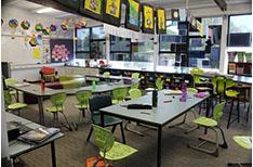School Corridors Purple room 1