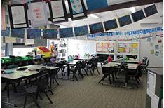 School Corridors Purple room