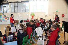 Majura Primary School Band enjoy playing music