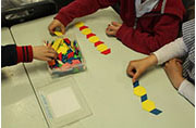 Students are playing patterns